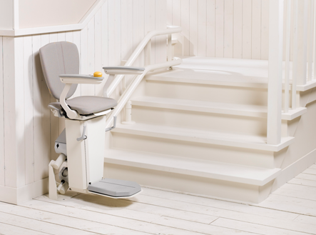 Otolift Two Curved Stairlift