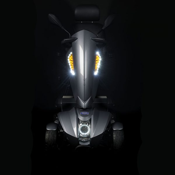 mobility scooter at night